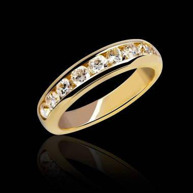 Florence Diamond Wedding Band Yellow Gold