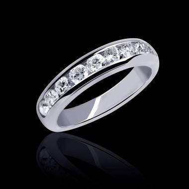 Florence Diamond Wedding Band Platinium