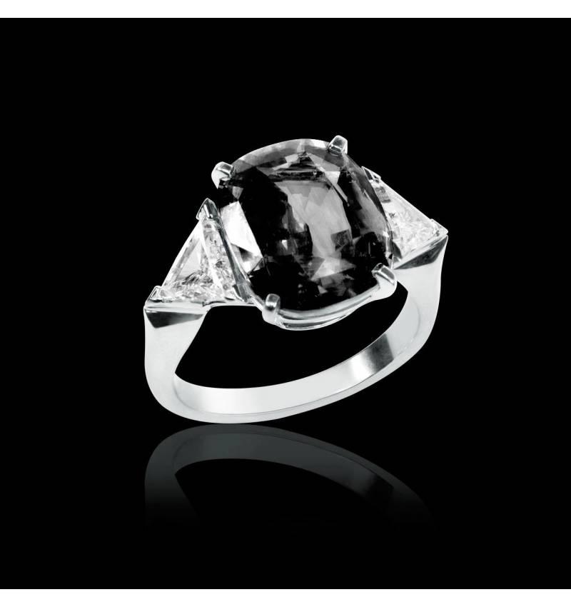 Bague diamant noir Stéphanie