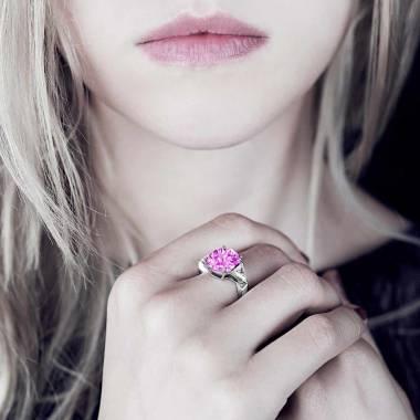 Bague saphir rose Stéphanie