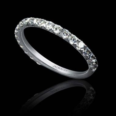 Diamond Wedding Band White Gold Emilie