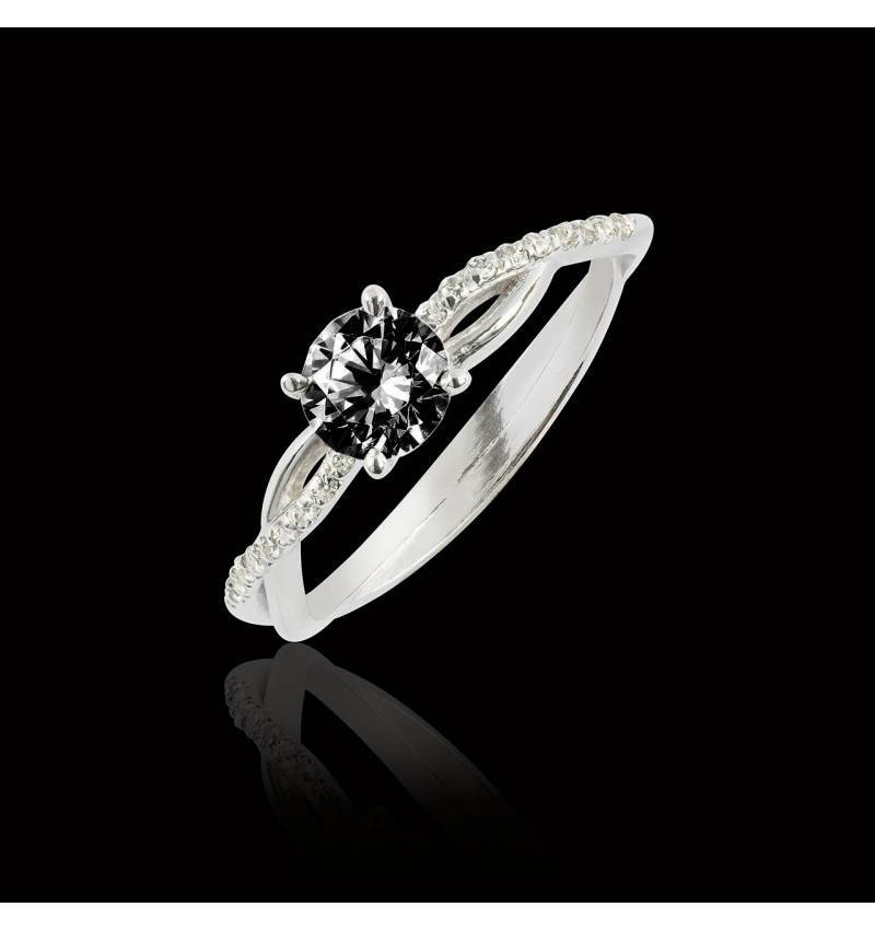 Noemie Black Diamond Ring