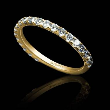 Diamond Wedding Band Yellow Gold Emilie