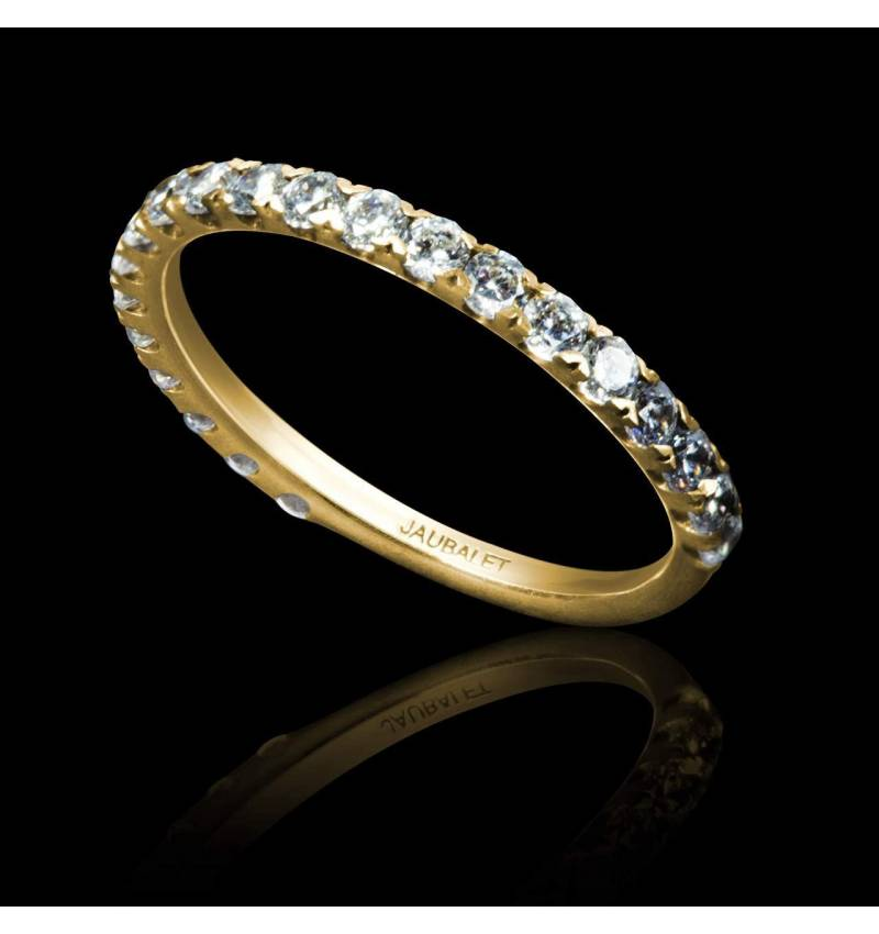 Diamond Wedding Band Yellow Gold Emilie