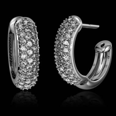 Diamond Earrings Gold Mangrove
