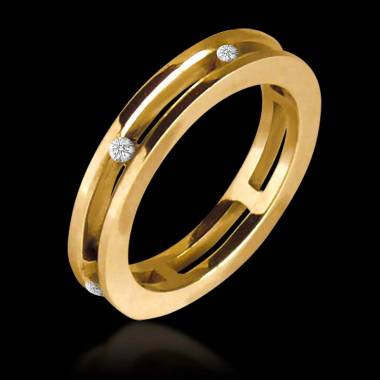 Lillian Yellow Gold Wedding band