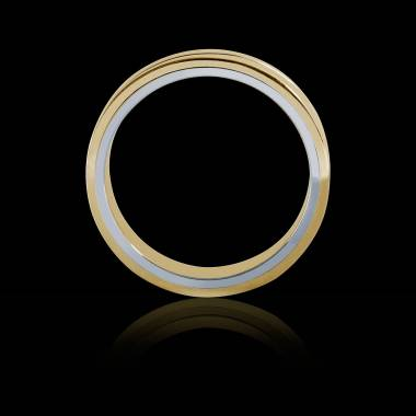 Alexandre  Yellow Gold and White Gold stripe