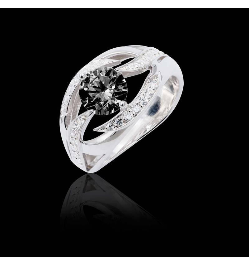 Ophelie Black Diamond Ring