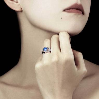 Ophelie Blue Sapphire Ring