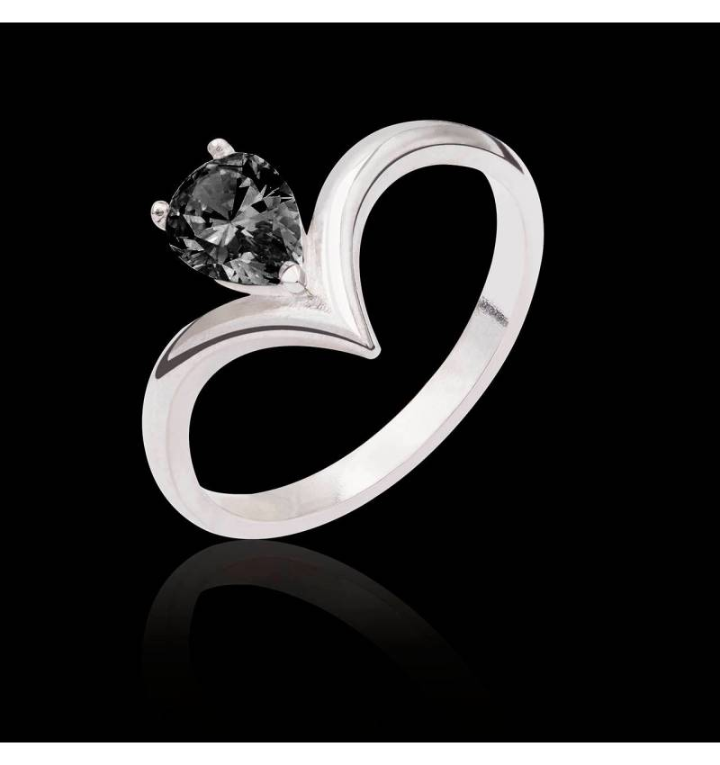 Flavie solo Black Diamond Ring