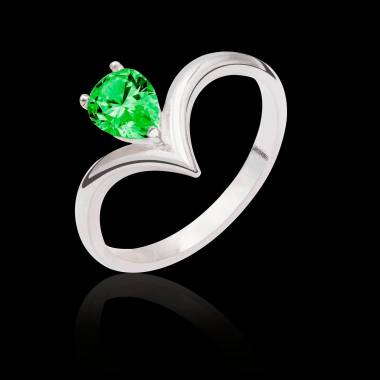 Flavie solo Emerald Ring