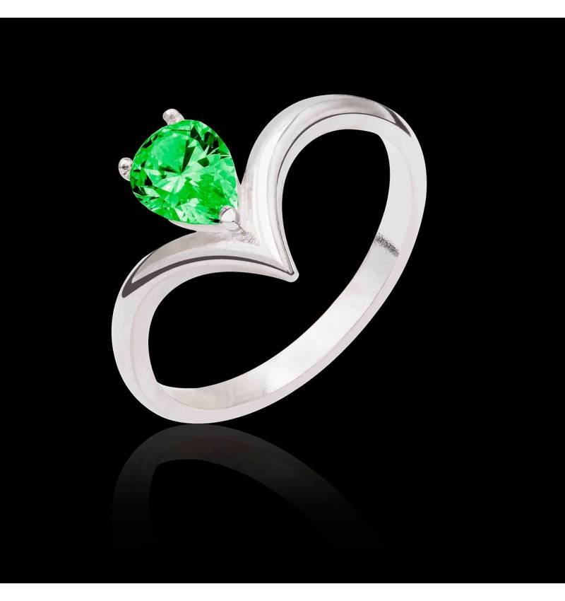 Flavie solo Emerald Ring