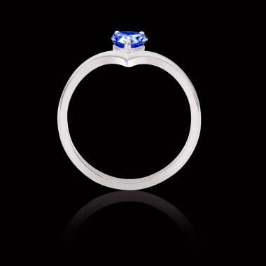 Flavie solo Blue Sapphire Ring