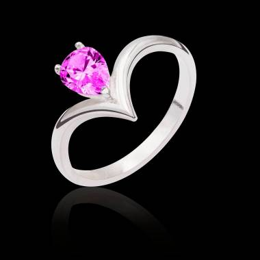 Flavie solo Pink Sapphire Ring