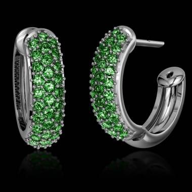 Emerald Earrings Gold Mangrove