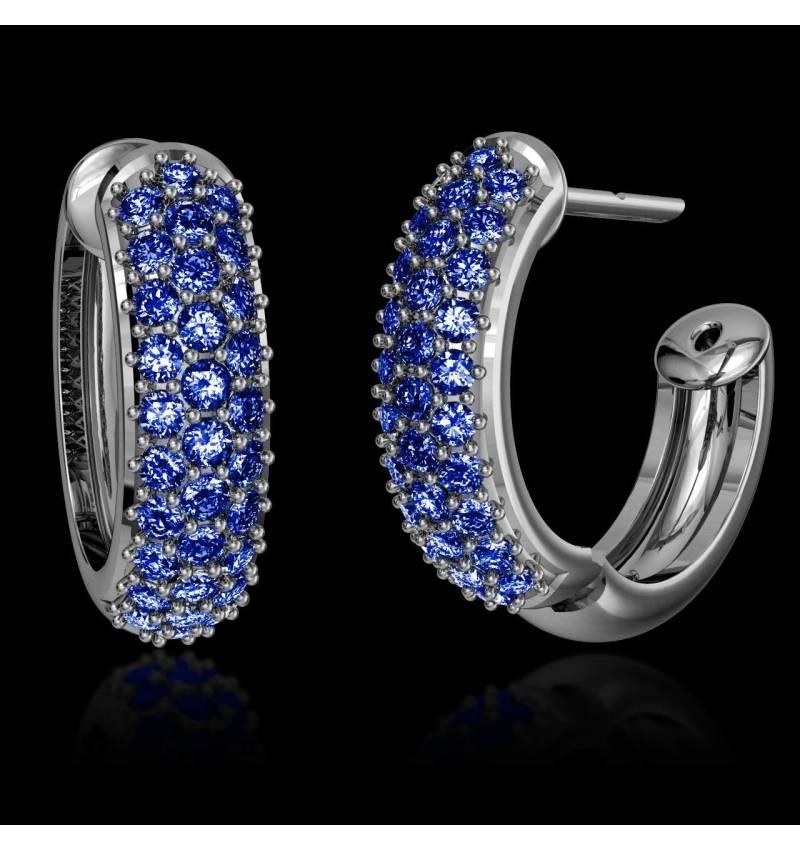 Blue Sapphire Earrings Gold Mangrove