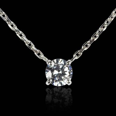 Diamond Pendant White Gold  Around Me