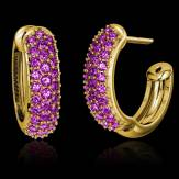 Pink Sapphire Earrings Gold Mangrove