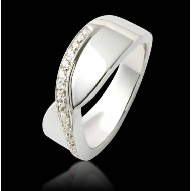 Diamond Wedding Band White Gold Eternelle
