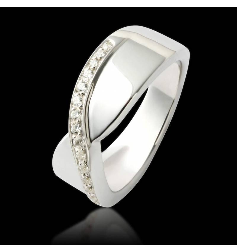 Eternelle Diamond Wedding Band White Gold