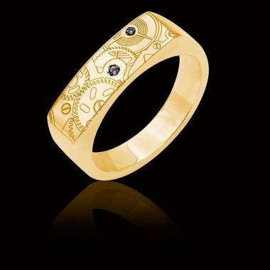 Bague homme Or Jaune Complications