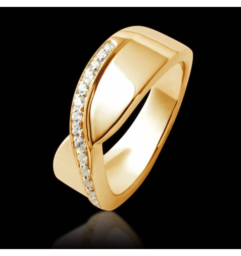 Eternelle Diamond Wedding Band Yellow Gold