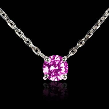 Pink Sapphire Pendant Gold Around Me