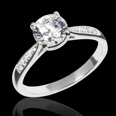 Diamond Engagement Ring Diamond Paving White Gold Angela