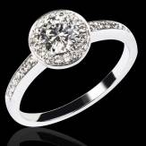 Diamond Engagement Ring Diamond Paving White Gold Rekha