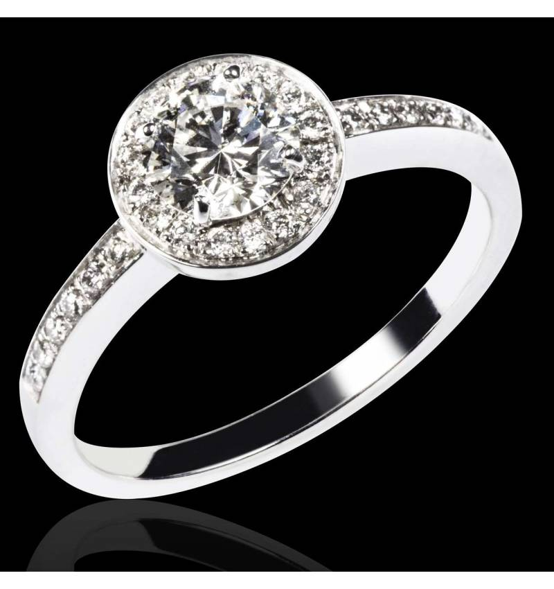 Diamond Engagement Ring Diamond Paving White Gold Rekha