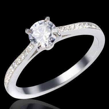 Diamond Engagement Ring Diamond Paving White Gold Elodie