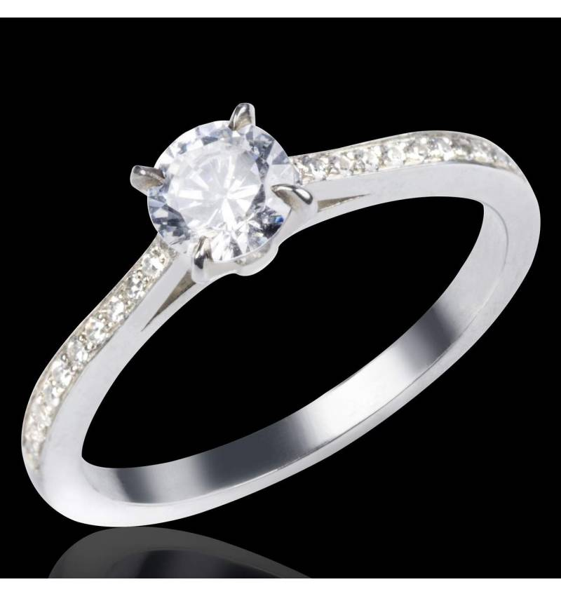 Diamond Engagement Ring Diamond Paving White Gold Elodie