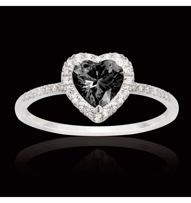 Anya Black Diamond Ring