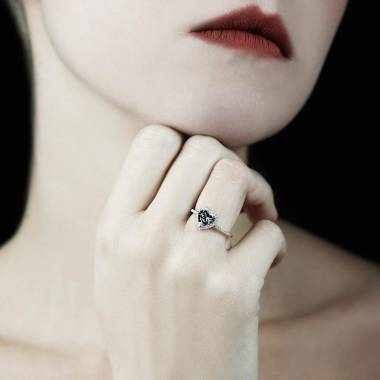 Anya Black Diamond Ring