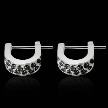 Fuseaux Black Diamond Earrings