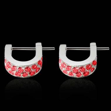 Boucles d'oreilles rubis Fuseaux