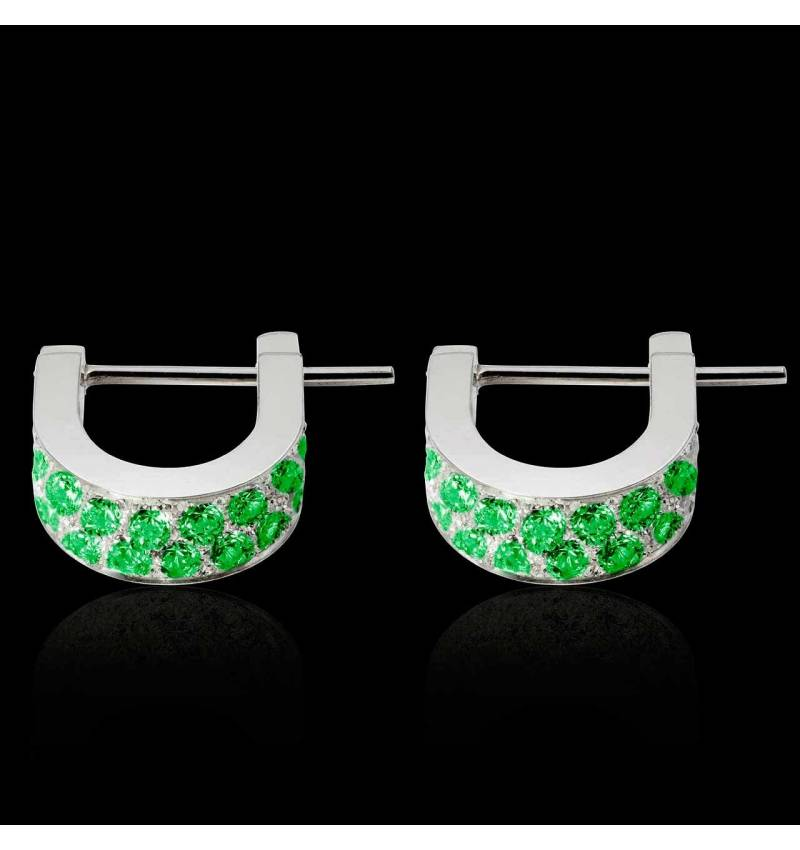 Fuseaux Emerald Earrings