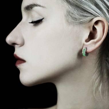 Fuseaux Emerald Earrings