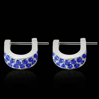 Fuseaux Blue Sapphire Earrings