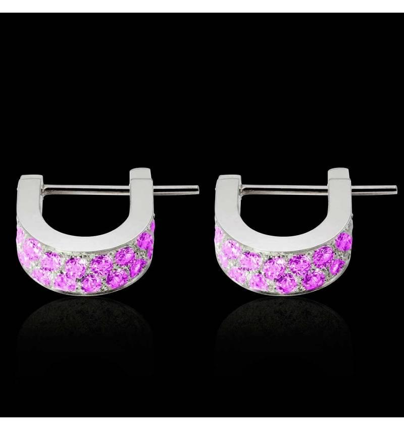 Fuseaux Pink Sapphire Earrings