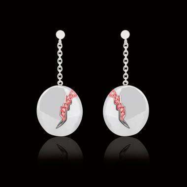Ruby earrings gold quake