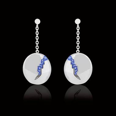 Blue Sapphire earrings Quake
