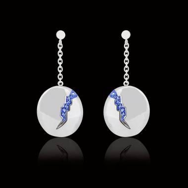 Blue Sapphire earrings Quake