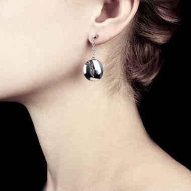 Boucles d'oreilles diamant noir Quake