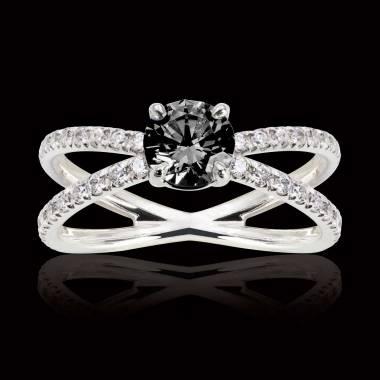 Amandine Black Diamond Ring