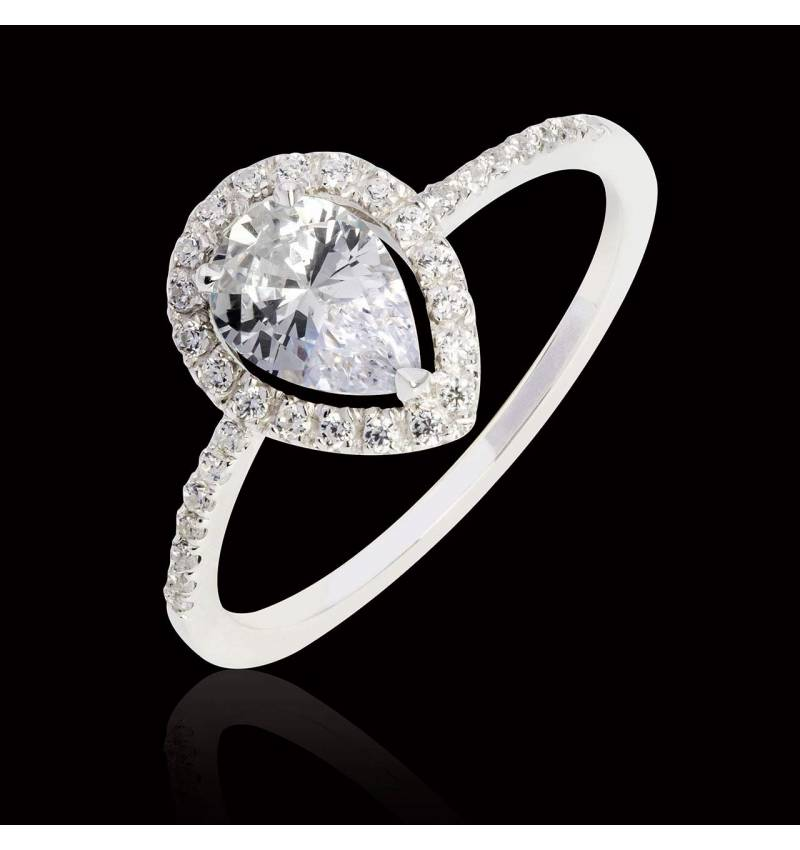 Sandra Pear Diamond Ring