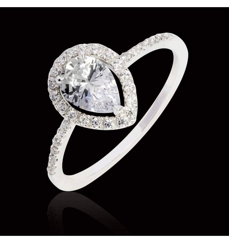 Sandra Pear Diamond Ring