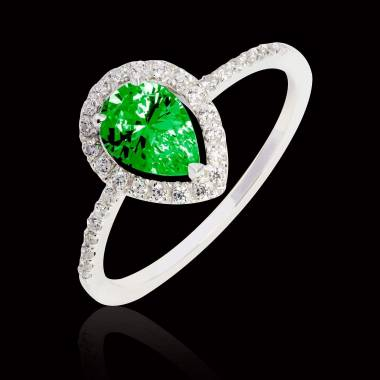 Sandra Pear Emerald Ring
