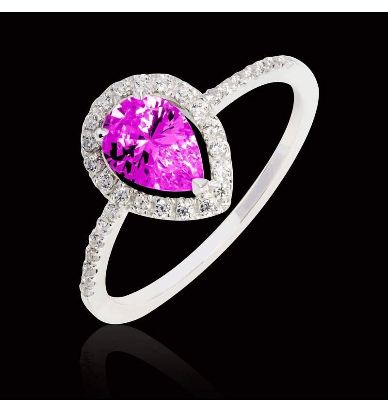 Sandra Pear Pink Sapphire Ring
