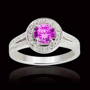 Sarah Pink Sapphire Ring